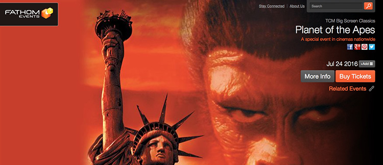 The Damn Dirty Geeks are planning a fan event around TCM's screening of the original 1968 PLANET OF THE APES on Sunday, July 24th.