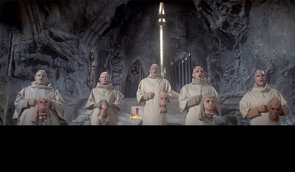 The Mutants reveal their inmost selves to their bomb deity in the finale of BENEATH THE PLANET OF THE APES.