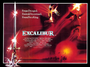 Quad poster design for EXCALIBUR