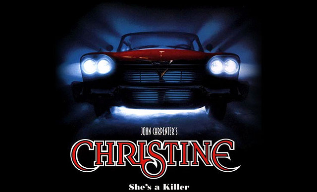Promotional artwork for John Carpenter's 1983 adaptation of the Stephen King novel CHRISTINE.