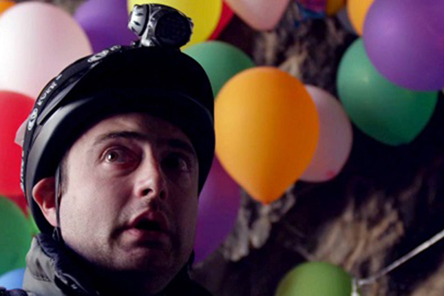 Graham Skipper plays a mountain climber who encounters a high-altitude surprise in Frank H. Woodward's new short film BALLOON