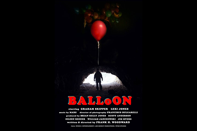 Poster for Frank H. Woodward's short film BALLOON starring Graham Skipper, now available on YouTube and Vimeo