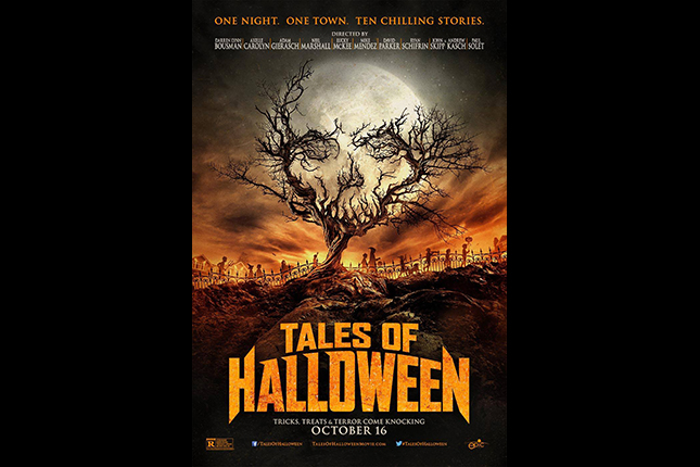 The poster for TALES OF HALLOWEEN now available with video on demand