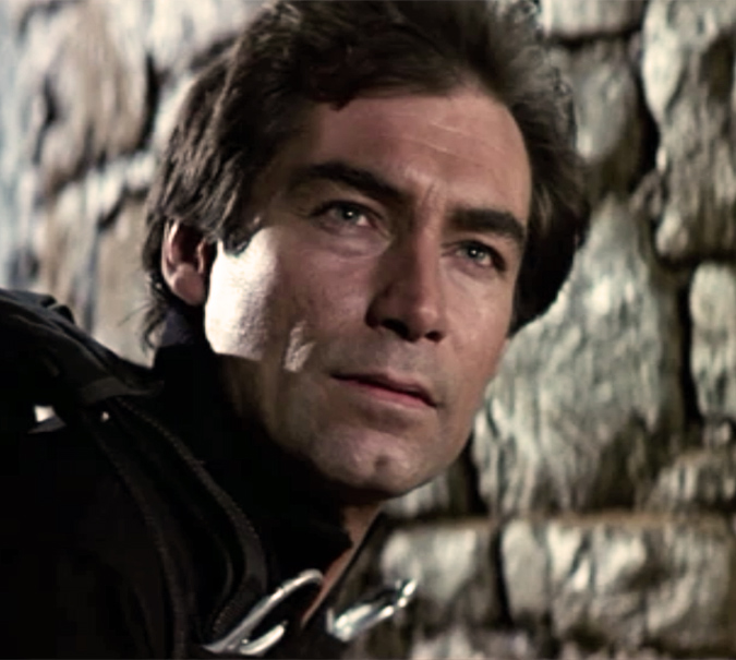 Timothy Dalton as James Bond in THE LIVING DAYLIGHTS.