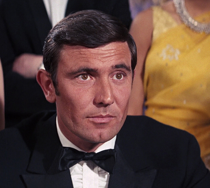 George Lazenby as James Bond in ON HER MAJESTY'S SECRET SERVICE.