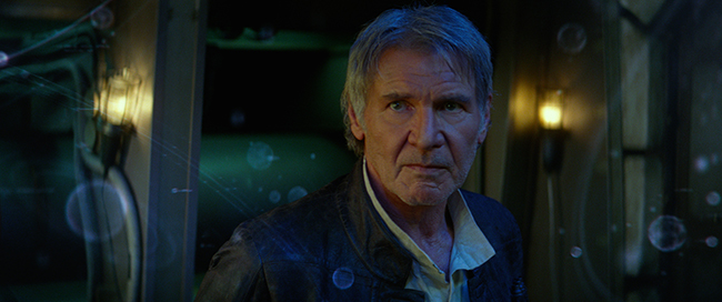 Star Wars: The Force Awakens. Han Solo (Harrison Ford). Ph: Film Frame. © 2015  Lucasfilm Ltd. & TM. All Right Reserved.