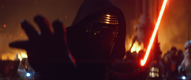 Star Wars: The Force Awakens. Adam Driver as Kylo Ren. Ph: Film Frame. © 2015  Lucasfilm Ltd. & TM. All Right Reserved.