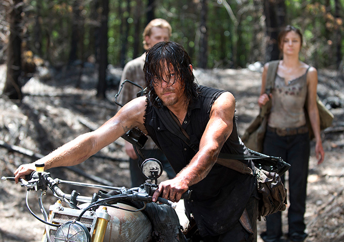 Daryl Dixon (Norman Reedus) and Honey (Christine Evangelista) in Episode 6. Photo by Gene Page/AMC
