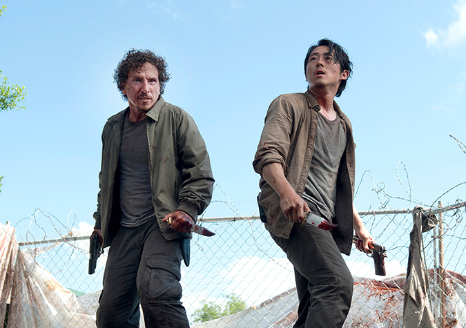 Nicholas (Michael Traynor) and Glenn Rhee (Steven Yeun) in Episode 3 Photo by Gene Page/AMC