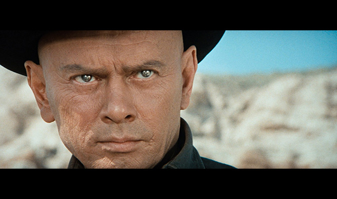 Yul Brynner as the Gunslinger android in WESTWORLD directed by Michael Crichton.