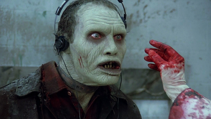 Bub the zombie (Sherman Howard) enjoys some tunes beyond death in DAY OF THE DEAD.