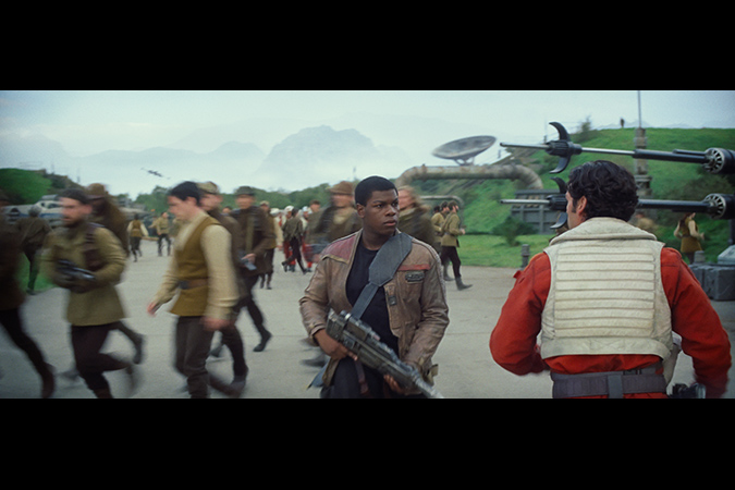 Star Wars: The Force Awakens. L to R: Finn (John Boyega) and Poe Dameron (Oscar Isaac). Ph: Film Frame. © 2014 Lucasfilm Ltd. & TM. All Right Reserved.