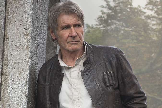 Star Wars: The Force Awakens. Han Solo (Harrison Ford). Ph: David James..? 2015 Lucasfilm Ltd. & TM. All Right Reserved.
