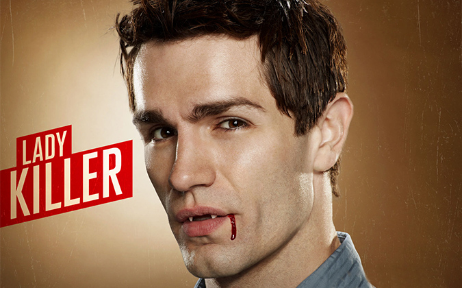 Sam Witwer as the troubled, blood-addicted vampire Aidan Waite in SyFy's BEING HUMAN.