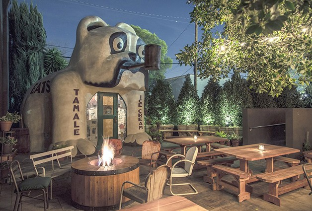 The Damn Dirty Geeks will host our second annual PLANET OF THE APES DAY celebration event at Idle Hour in North Hollywood, CA on April 2, 2016. This is a photo of the Bulldog area at Idle Hour where our POTA Day gathering takes place. Photo credit: William Bradford.