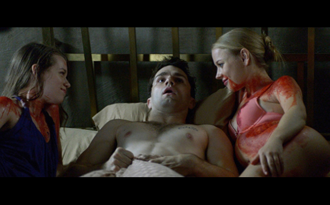 The vampiric bloodlust of Aidan Waite (Sam Witwer) literally comes back to haunt him in the SyFY hit series BEING HUMAN.