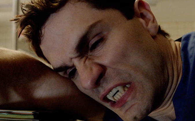 Sam Witwer struggles with life as an undead vampire Aidan Waite, struggling to live among mortals in the SyFY hit series BEING HUMAN.