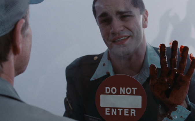 Sam Witwer as Private Jessup in Frank Darabont's horror thriller THE MIST.