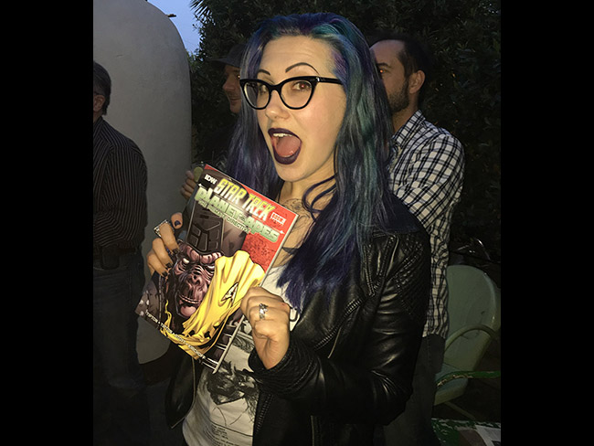 Our friend and previous podcast guest Mallory O'Meara took home an Apes/Star Trek comic book, one of our raffle gifts celebrating the Damn Dirty Geeks' 2nd annual Planet of the Apes Day.