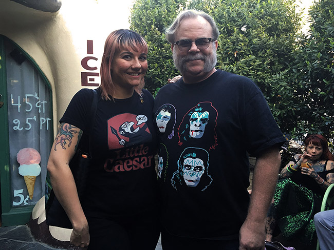 Rebecca Lord and Ken Daly arrived in their finest APES attire at Idle Hour, celebrating the Damn Dirty Geeks' 2nd annual Planet of the Apes Day.