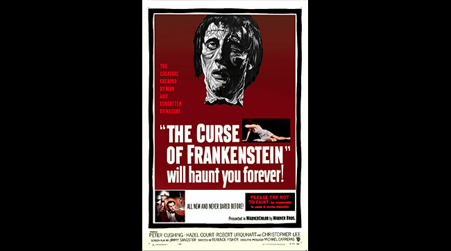 Poster for Hammer's THE CURSE OF FRANKENSTEIN (1957)