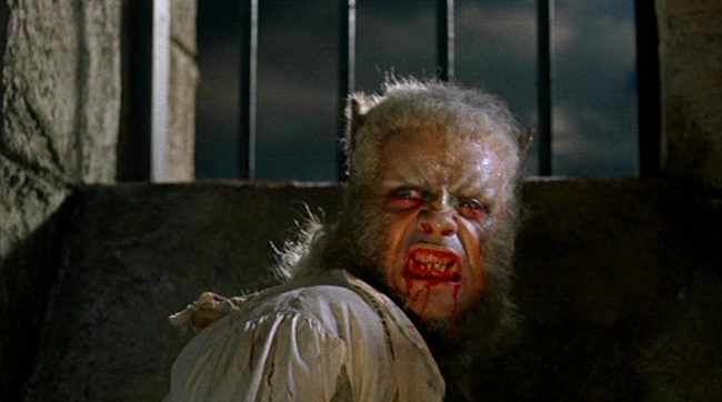 Oliver Reed as Leon in Hammer's THE CURSE OF THE WEREWOLF (1961)
