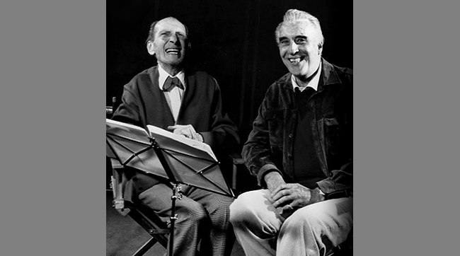 Peter Cushing and Christopher Lee enjoyed plenty of laughs together whie recording their narration tracks for the documentary FLESH AND BLOOD: THE HAMMER HERITAGE OF HORROR.