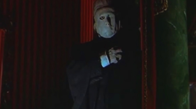 Herbert Lom as the Phantom in Hammer's THE PHANTOM OF THE OPERA (1962)