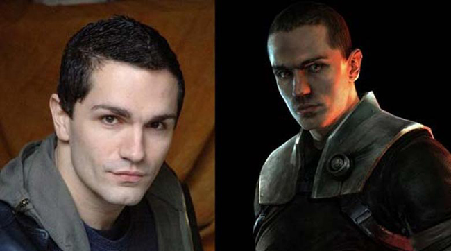 Actor Sam Witwer and his videogame alter-ego character Starkiller from the videogame series STAR WARS: THE FORCE UNLEASHED
