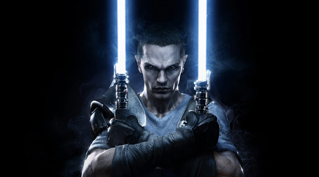 Close up of Galen Marek, the human apprentice of Sith Lord Darth Vader, as portrayed by actor Sam Witwer in STAR WARS: THE FORCE UNLEASHED video game series.