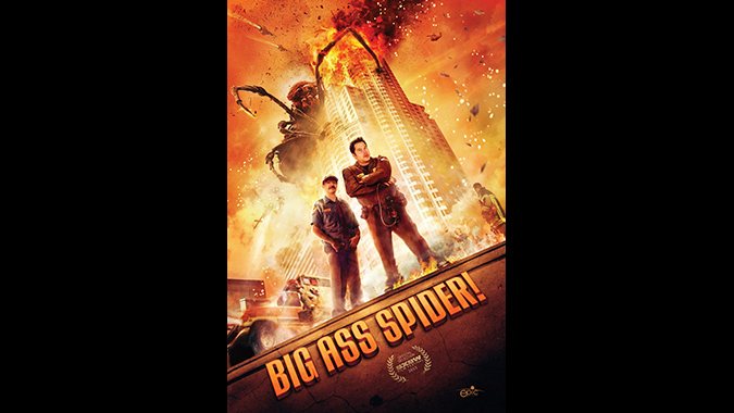 Poster art for Mike Mendez's film BIG ASS SPIDER!