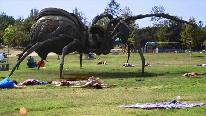A giant killer arachnid really bugs Los Angeles residents in Mike Mendez's indepdendent horror film BIG ASS SPIDER!