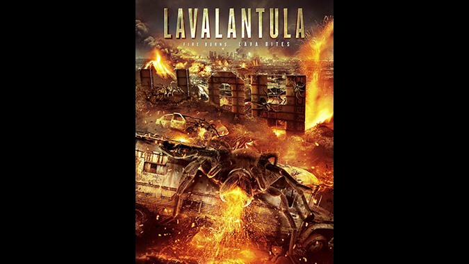 Poster art for Mike Mendez's SyFy film LAVALANTULA