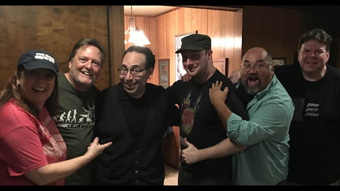 The Damn Dirty Geeks welcome horror director Mike Mende (center) to our podcasting lair for a discussion on modern independent horror