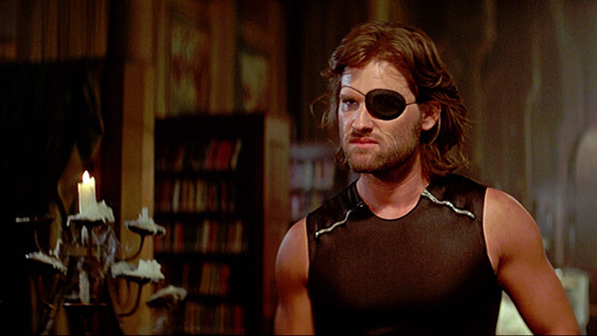 Kurt Russell invented another of his iconic film roles as Snake Plissken in John Carpenter's post-apocalyptic thriller ESCAPE FROM NEW YORK.