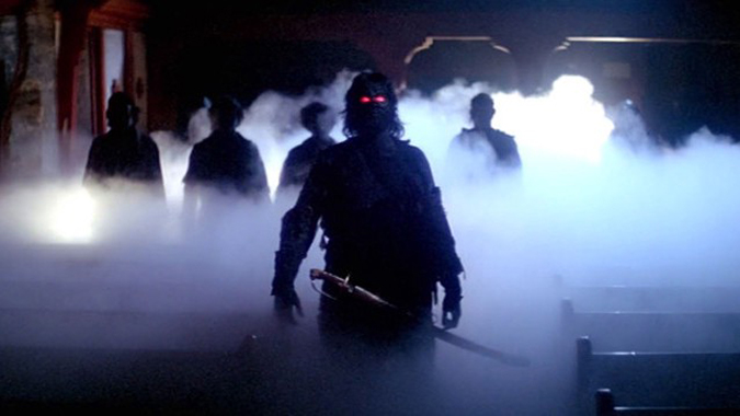 The vengeful, murderous spirits of shipwrecked lepers return to unleash their wrath on the citizens of Antonio Bay in John Carpenter's 1980 ghost story THE FOG.