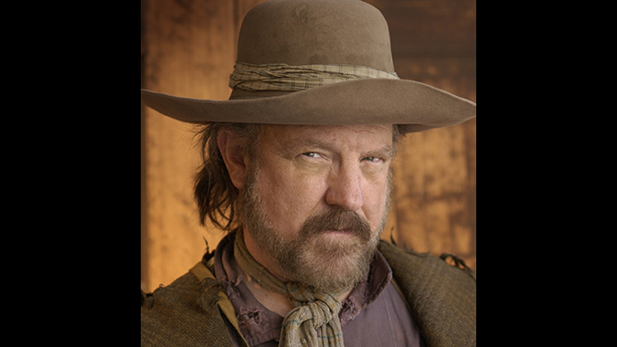 Actor Jim Beaver as Whitney Ellsworth in the HBO western drama DEADWOOD.