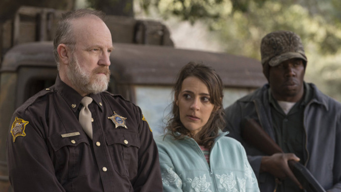 JUSTIFIED -- Get Drew -- Episode 10. Pictured: (L-R) Jim Beaver as Shelby Parlow, Abby Miller as Ellen May -- CR: Prashant Gupta/FX