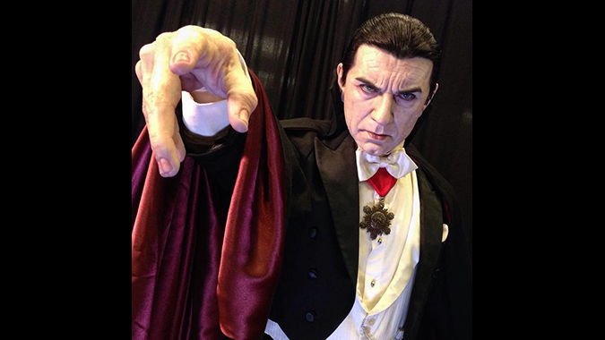 Mike Hill's incredibly detailed life-size figure of Bela Lugosi as Dracula.