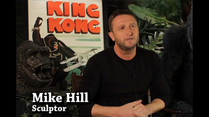 Artist Mike Hill as he appears in the upcoming KONG documentary LONG LIVE THE KING, directed by DDG's own Frank Dietz and Trish Geiger.