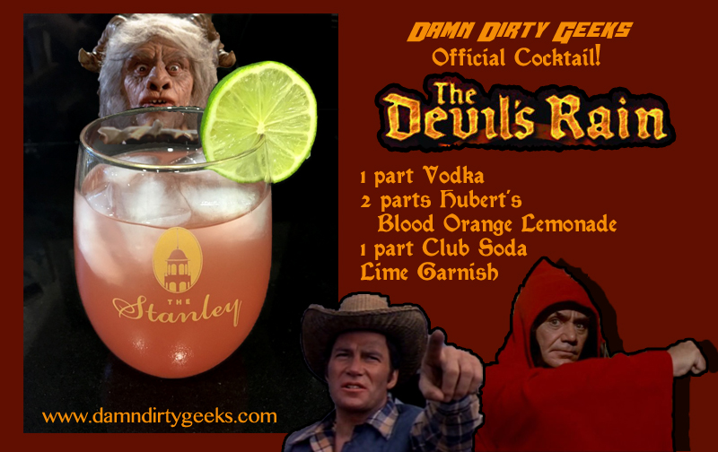 Recipe for the first official Damn Dirty Geeks cocktail - The Devil's Rain
