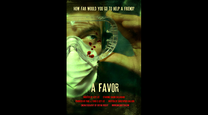 Poster for director Izzy Lee's 2015 horror comedy short A FAVOR.