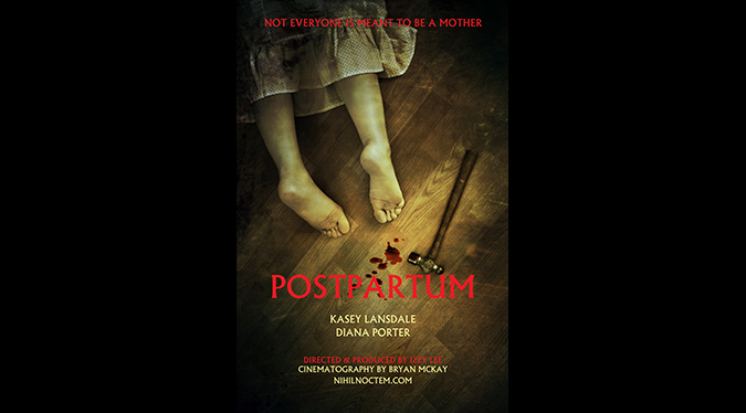 Poster for director Izzy Lee's 2015 horror short POSTPARTUM.