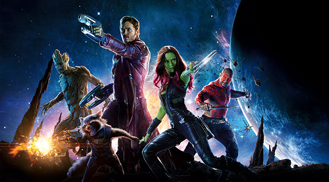 Star-Lord, Gamora, Drax, Groot and Rocket Raccoon return in GUARDIANS OF THE GALAXY 2.