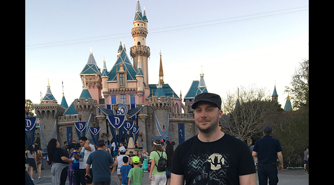 Sleeping Beauty Castle and Jack Bennett: a study of dichotomy at Disneyland.