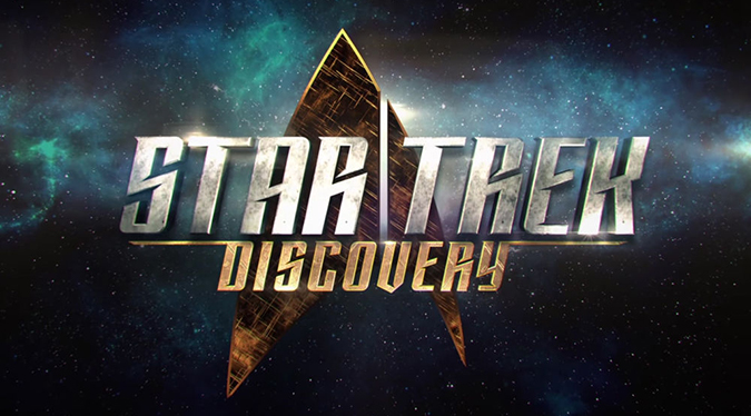 The title and logo for STAR TREK DISCOVERY, debuting on CBS All Access in May 2017.