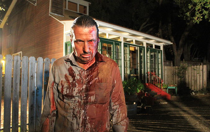 Jerry Lambert as the blood-soaked Jerry in Staci Layne Wilson's supernatural thriller THE FIANCE.