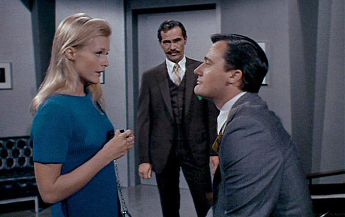 Carol Linley and H.M. Wynant co-star with Robert Vaughn in the 'The Prince of Darkness Affair' two-part 1967 episode of THE MAN FROM U.N.C.L.E.