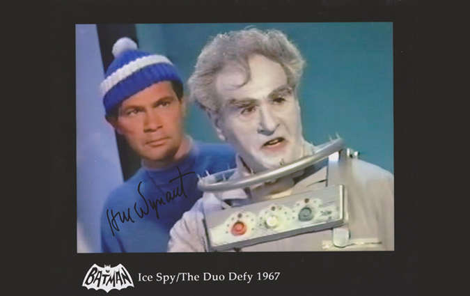 "From the 1967 two-part episode ""Ice Spy/The Duo Defy"" of BATMAN: H.M. Wynant as Frosty and Eli Wallach as Mr. Freeze."