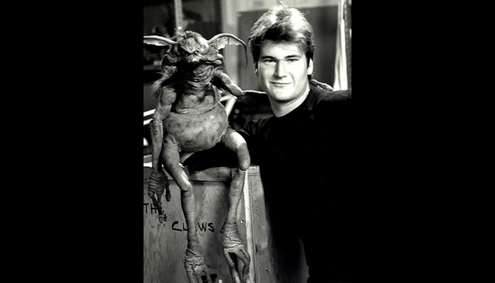 Kirk Thatcher in his ILM creature shop days, posing with Jabba's minion, Salacious B. Crumb during production of STAR WARS: RETURN OF THE JEDI.